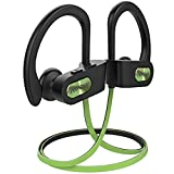 Mpow Flame Bluetooth Headphones Sport IPX7 Waterproof Wireless Sport Earbuds, Richer Bass HiFi Stereo in-Ear Earphones, 7-9 Hrs Playback, Running Headphones W/CVC6.0 Noise Cancelling Mic, Lime Green