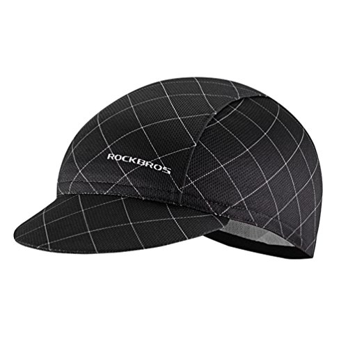 RockBros Men's Cycling Cap Breathable Sun Proof Helmet Liner Hat Black ()
