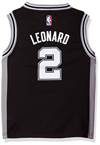NBA San Antonio Spurs Leonard Boys 4-7 Away Replica Jersey, Large (7), Black