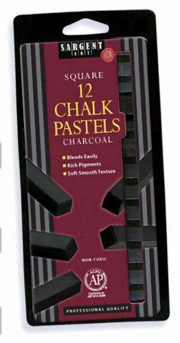 Black Chalk (Sargent Art 22-1158 12-Count Charcoal Square Pastels)