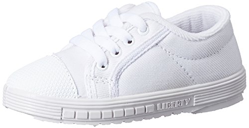 Prefect (from Liberty) Unisex Tennis White Canvas Sneakers - 11 kids UK