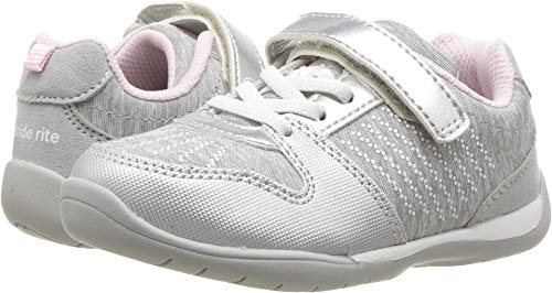 Stride Rite Girls' Avery Sneaker, Silver, 9.5 M US Toddler