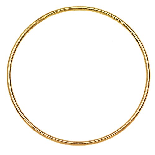 Beadaholique Round Link Component, Closed 18 Gauge Wire 30mm Diameter, 1 Piece, 14K Gold Filled