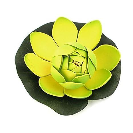 Acuario acuática flotante de espuma flor de loto Decoración de 2,4 pulgadas de alta Verde: Amazon.es: Productos para mascotas