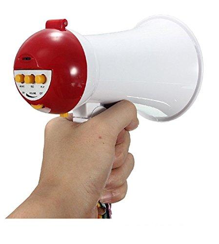 Mini Megaphone Portable Handheld Foldable 5W Speaker Bullhorn Voice Amplifier Small Green Megaphone