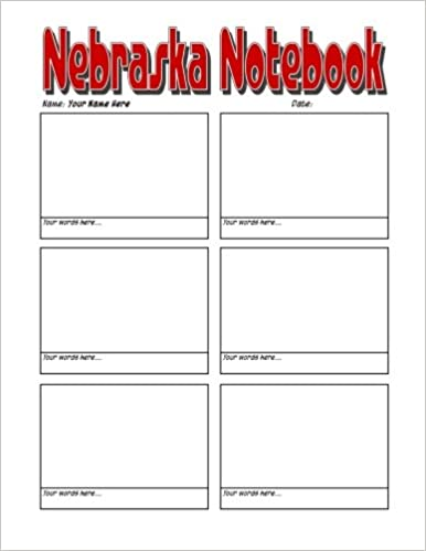 Nebraska Notebook - Amazing Nebraska Notebook, Journal or Sketchbook: Worlds Greatest Blank Nebraska Notebook, Journal, Sketchbook or Panelbook