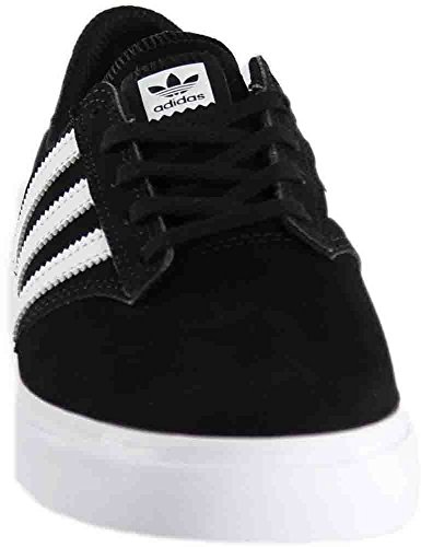 Adidas Originali Mens Seeley Prima Moda Sneaker Core Nero / Bianco Calzature