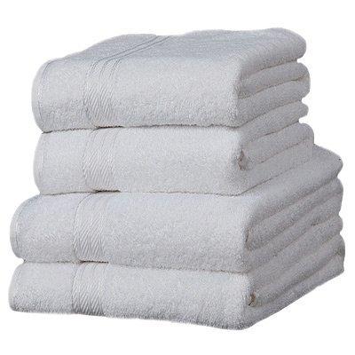 Linens Limited Supreme – Toalla de tocador (100% algodón egipcio), color blanco