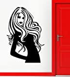 Wall Stickers Vinyl Decal Beautiful Girl Long Hair Style Salon Spa (vs357)