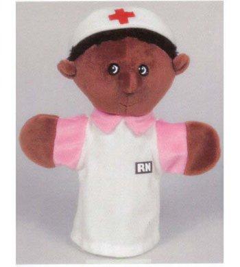 Nurse Puppet Black (4 Pack GET READY KIDS FORMERLY MT&B BLACK NURSE PUPPET)