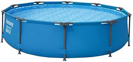 Bestway 56407E 10' x 30″ Round Steel Pro MAX Hard Side Family Swimming Pool Set