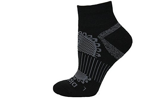 Dickies Paisley All Season Wool Blend Quarter Socks, Black, 1 Pair - Womens Dickies Black Soft Toe