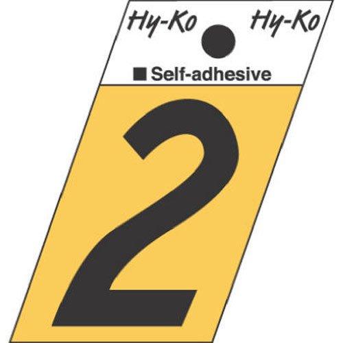 Hy-Ko GR-10/2 Number Sign 1.5'' Black Aluminum
