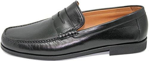 Antifaz Calidad España Zapato de Color 3406 EN Mallorca Shoes Mano Mocasín Inca Primera Piel con Tafilete Negro George´s a Fabricado AvwXxBqHq
