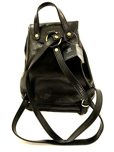Zaino in vera pelle made in italy vintage borsa donna zeta MainApps Nero