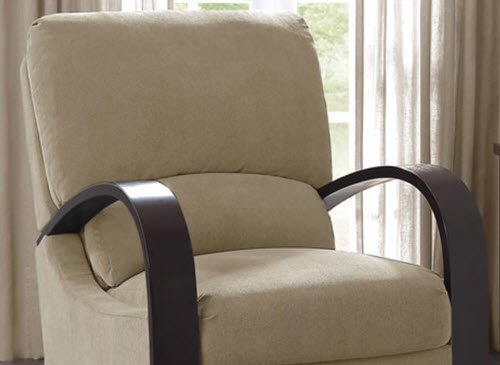 Completely new Amazon.com: Microfiber Recliner Chair Bent Wood Armrest Reclining  AP72
