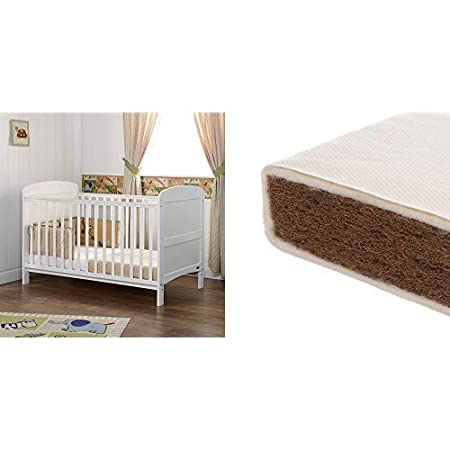 White Obaby Grace Cot Bed and All Seasons Pocket Sprung Mattress