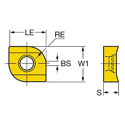 Wiper AlTiCrN Zertivo Technology Carbide Pack of 10 1130 Grade Right Hand Cut Sandvik Coromant R331.1A-05 45 23H-WL1130 Coro Mill 331 Insert for Slotting