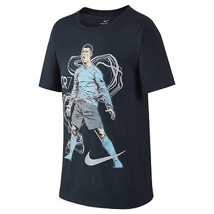 Nike niño Cristiano Ronaldo Dry té Hero Manga Corta Camiseta de Hombre, Color Azul Marino