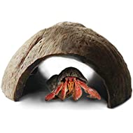 Eco-friendly Hermit Crab hut -- Pet-safe arthropod's hideout - Natural, spacious Coco tunnel - Maximum Privacy, Ideal breeding ground - Encourages physical activity - Use as hermit cave or climber