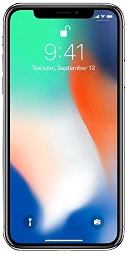 Apple iPhone X, AT&T, 64GB - Silver (Renewed)