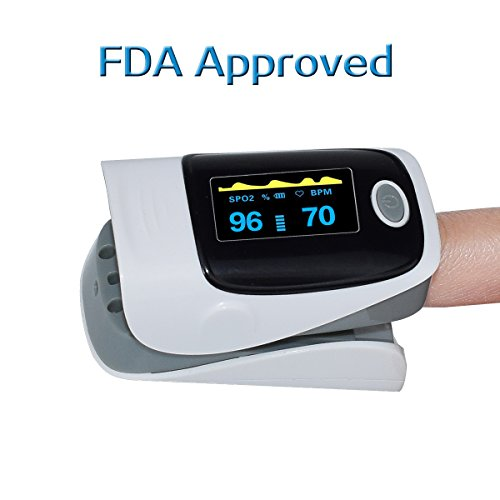 Portable Finger Pulse Oximeter Fingertip...