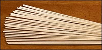 "Box of 150 1/8"" x 12"" Wood Lighting Taper Sticks for Votive Devotional Candle Stands"