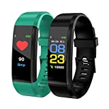 TEXXIS Smart Wristband with Heart Rate Monitor/Sleep Quality Monitor/Steps Counter/GPS Tracker and More, Smart Wristband Watch for Android and iOS Clips, Arm & Wristbands (BL)