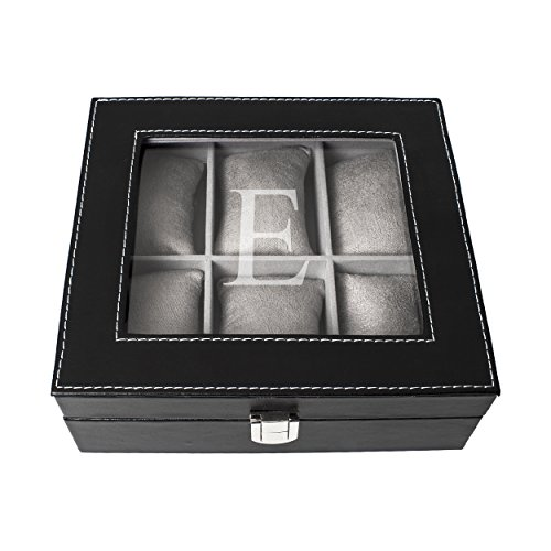 Cathy's Concepts Personalized Men's Leatherette Watch Box...