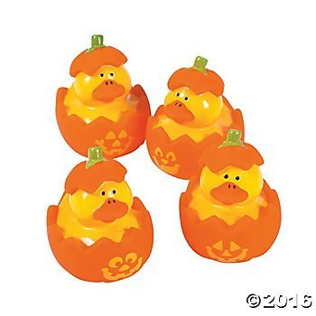 (Jack-O'-Lantern Rubber Duckies - 12)