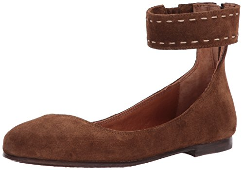 Ankle Wood Soft Frye Ballet Women's Suede Oiled Flat Carson qEaB6