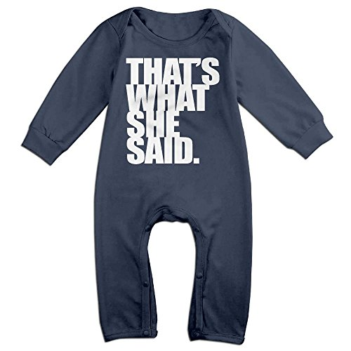 Police Costume Australia (Infants Thats What She Said Long Sleeve Bodysuit Baby Onesie Baby Climbing Clothes Outfits For 0-24 Months Navy 18 Months)