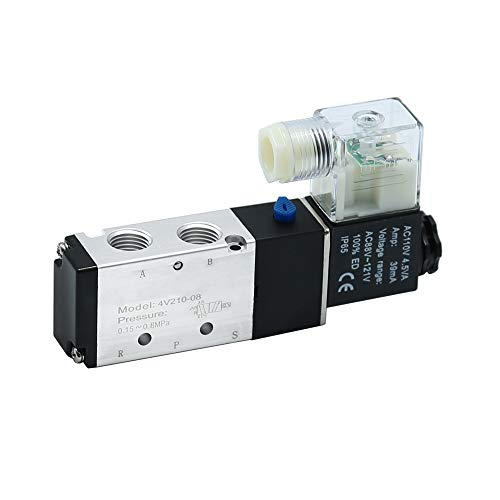 Pneumatic 4 Way 2 Position Directional Control Electric Air Solenoid Valve 110V AC 1/4