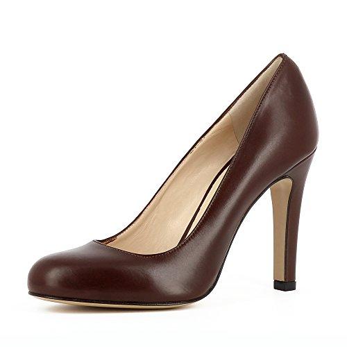 Evita Shoes Cristina Damen Pumps Glattleder Dunkelbraun