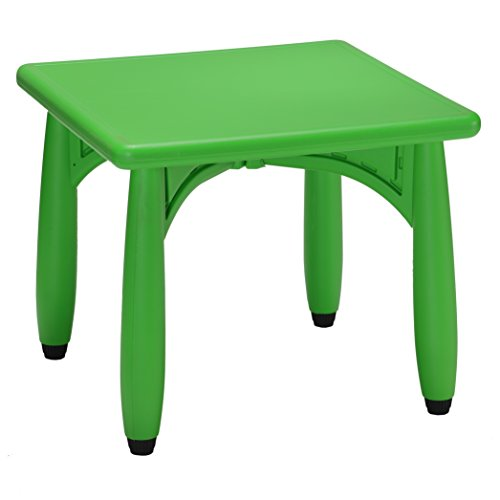 """Cozy4Kids Picnic Indoor/Outdoor Plastic 24"""" Square Kid Playroom Table, Screamin Green"""