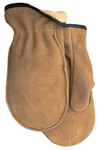American Made Cowhide Leather Pile Lined Chopper Mitt Gloves , 9142PL, Size: Large