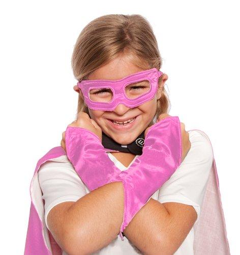 Pink Superhero Eye Mask and Powerbands