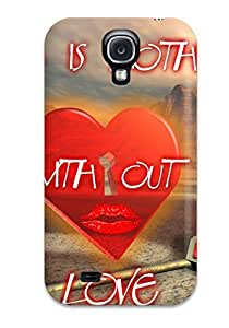 [bFnzcnZ12652kZcfQ]premium Phone Case For Galaxy S4/ Life Is Nothing Without Love Tpu Case Cover