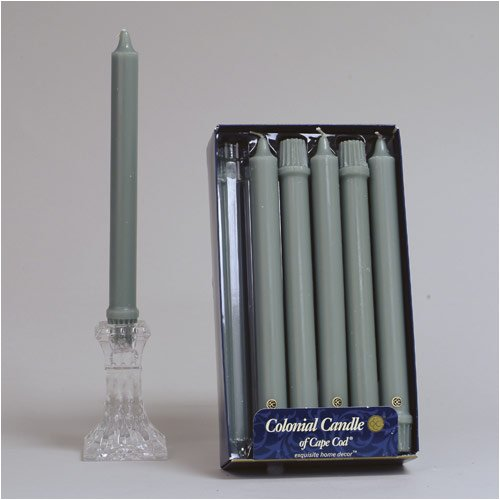 Classic Dinner Candles - Colonial Candle Colonial Green 12 Inch Classic Dinner Candles