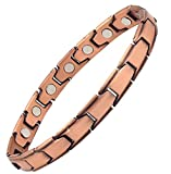 Reevaria Copper Bracelet for Arthritis - Guaranteed 99.9% Pure Copper Magnetic Bracelet for Women with Powerful Neodymium Magnets for Effective & Natural Relief of Joint Pain, RSI, Carpal Tunnel
