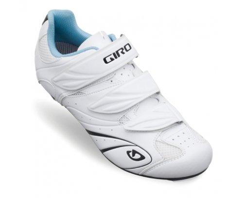 Giro Sante II Damen Rennrad Schuhe weiß blau 2015