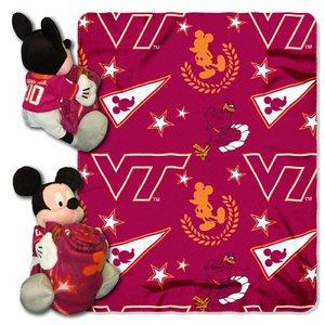 Officially Licensed NCAA Virginia Tech Hokies Co-Branded Disney's Mickey Hugger and Fleece Throw Blanket Set
