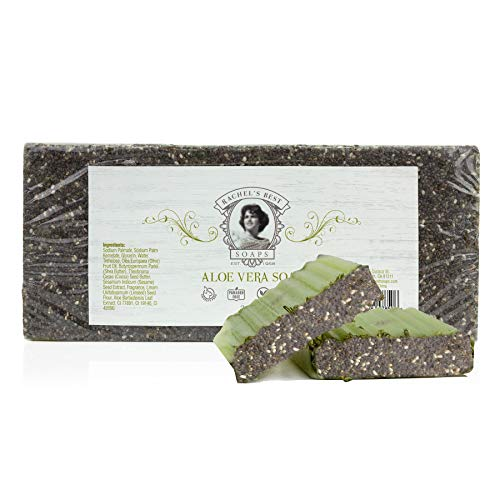 BeautyFrizz Aloe Vera Soap Loaf - Moisturizing Soap with Shea Butter, Olive Oil and Cocoa - Paraben Free Soap For A Skin High - 35 - Oz 35 Soap