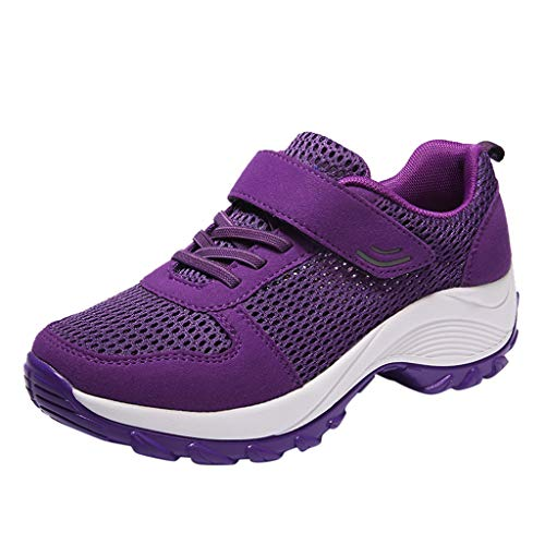 2019 Claerance Women's Casual Breathable Soft Bottom Mesh Sports Shoes Outdoor Lightweight Running Fitness Sneakers (Purple, US:6) ()