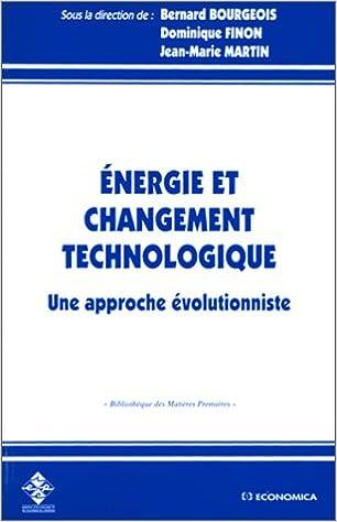 Livres gratuits en ligne Energie et changement technologique pdf