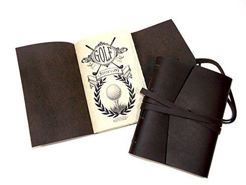 (Golf Journal/Log, Rustic Leather Handmade, Brown (LG))