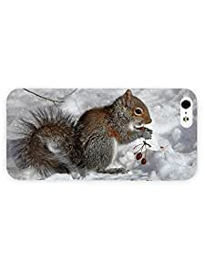 3d Full Wrap Case for iPhone ipod touch4 Animal Eating Squirrel