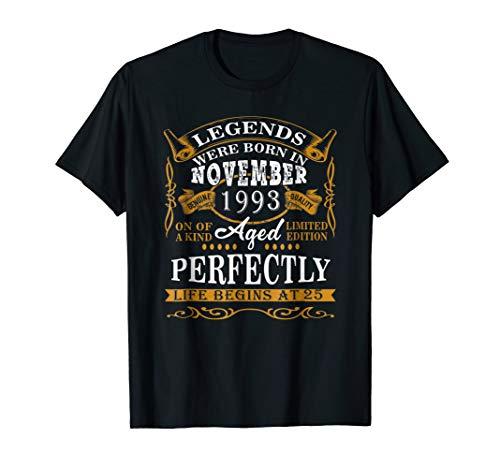 Legends Were Born In November 1993 25th Birthday Gift Shirt ()