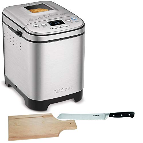 Cuisinart CBK-110 Compact Automatic Bread Maker, Silver Includes 8-inch Bread Knife and Bread (Best Compact Bread Maker)