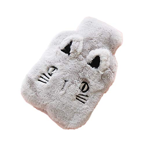 ssic Rubber Hot Water Bottle with Cute Cat Soft Fleece Cover Great for Pain Relief, Hot and Cold Therapy ()